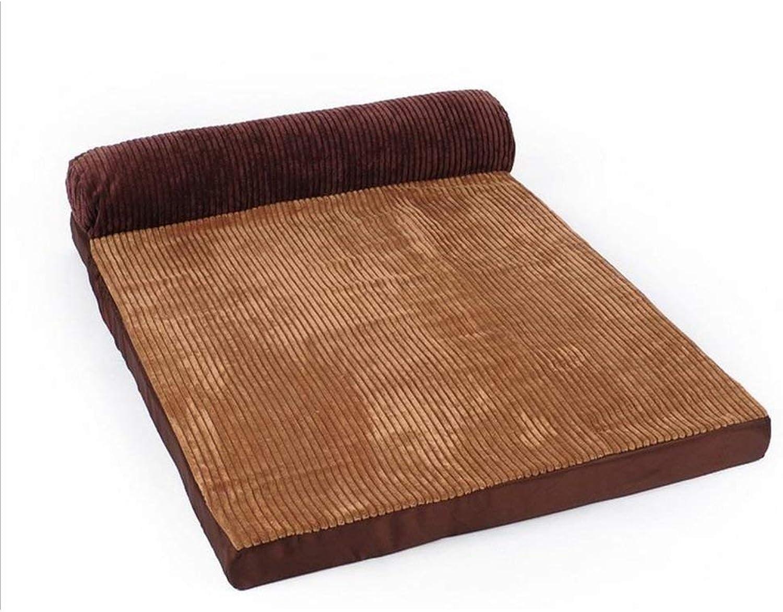 Pet Sofa golden Seasons kennel washable dog bed mat Samoyed husky dog large dogs pet Alaskan winter (Size   Small)