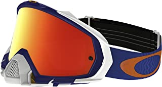 Oakley Mayhem Pro MX Shockwave Men's Dirt Motocross Motorcycle Goggles Eyewear - Blue Orange/Fire Iridium/One Size Fits All