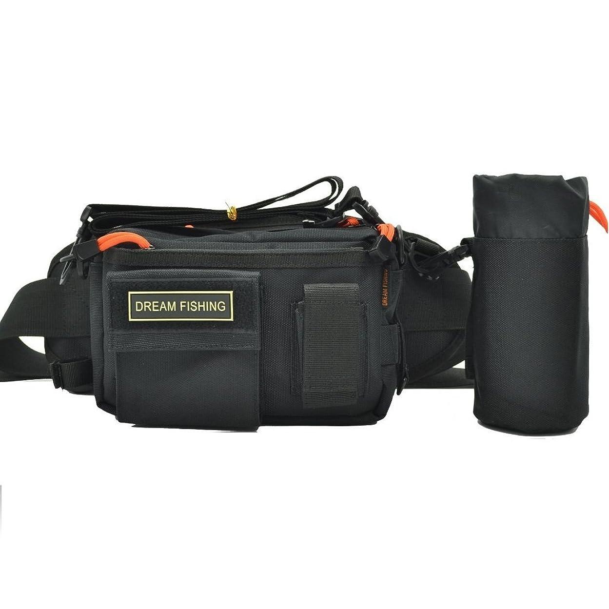調べるトリム尋ねるフィッシング バッグ 釣り用 ヒップ バック ショルダー 2way 多機能 収納 ロック式カラビナ付 セット