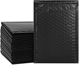 UCGOU 6x10 Inch Black Poly Bubble Mailers Padded Envelopes Shipping Bags 25pcs