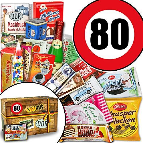 Ostpaket XXL + Süßigkeiten Ostbox + Zahl 80 + Geschenk Idee Mama