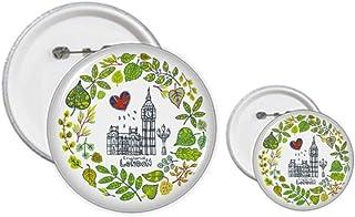 Big Ben London Angleterre Illustration Pin's Badge Design Kit Craft Kits