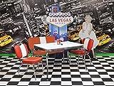 wendland-moebel.de Hausmarke Tischgruppe King I American Diner in Rot weiß
