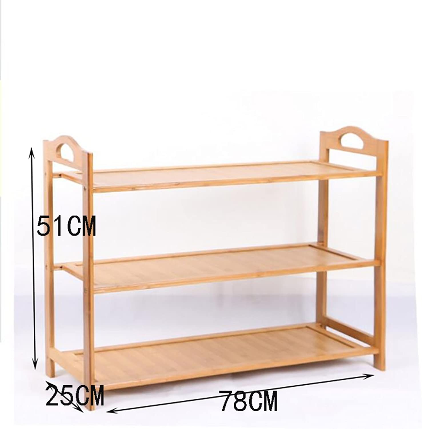shoes Bench Organizing Rack Bamboo Simple shoes Rack Multi - Storey shoes Rack Wooden shoes Rack Multi - Storey Dormitory shoes Rack Living Room Shelves (color   2, Size   78CM)