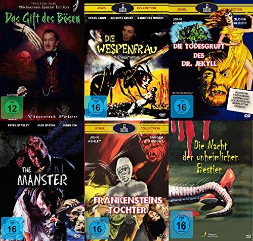 Mumien Monstren Mutationen Collection - Das Gift des Bösen + Die Wespenfrau + Die Todesgruft des Dr. Jekyll + The Manster + Fra