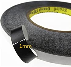 NIUTOP Double Sided Adhesive Tape 1mm Wide and 50 Meter Long For Repair Touch Screen Tablets Digitizer LCD Screen Display Professional Kit Incl use iPhone, iPad, Samsung, Huawei and so on(1mm Black)