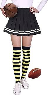 HDE Womens College Color Striped Socks Extra Long OTK University Team Spirit Fan