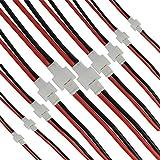 Boladge 10 pares 2.0 Cargador de Equilibrio de Batería 2 pines Cable de Silicona JST XH Conector Macho Hembra Adaptador de Cable para Batería RC Lipo (1S)