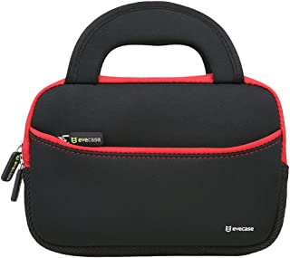 Evecase 7-8 inch Tablet Sleeve, 7~8 inch Tablet Ultra-Portable Neoprene Zipper Carrying Sleeve Case Bag with Accessory Pocket - Black/Red
