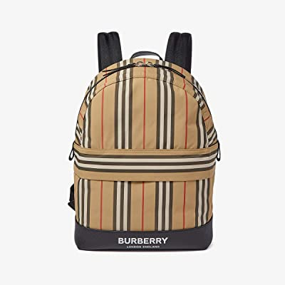 Burberry Kids Archive Stripe Backpack (Archive Beige) Backpack Bags