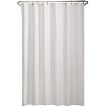 """MAYTEX Fabric Liner Shower Curtains, 70"""" x 72"""", White"""