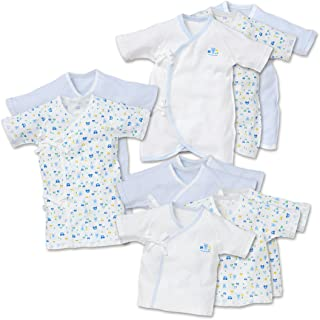西松屋 [EFD] 新生児肌着10点セット(うさぎ/ぞう/くま) 【新生児50-60cm】 ブルー