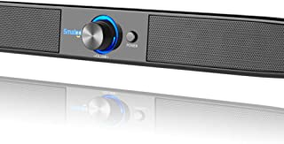 Docooler Soundbar USB Powered Speakers Home Theater 5W Stereo Subwoofer w/Microphone Headphone Jack Support LINE IN Music Play for TV Desktop Computer