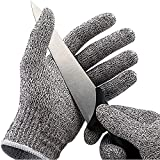 ShengYu-Z Food Grade Level 5 Protection Cut Resistant Gloves, Safety Kitchen Cuts Gloves for Oyster Shucking, Fish Fillet Processing, Mandolin Slicing, Meat Cutting and Wood Carving. (XL-1 Pairs)