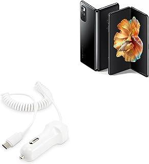 Carregador de carro BoxWave para Xiaomi Mi Mix Fold [Carregador de carro Plus] Porta USB extra com cabo integrado para Xia...