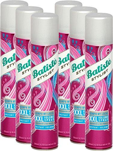 Batiste XXL Volumespray, vers en volumineus haar voor alle haartypes, verpakking van 6 stuks (6 x 200 ml)