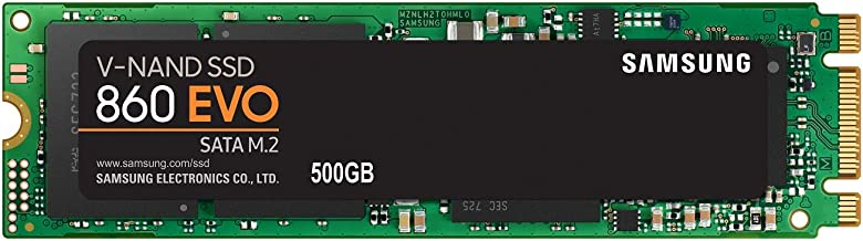 Samsung 860 EVO SSD 500GB - M.2 SATA Internal Solid State Drive with V-NAND Technology (MZ-N6E500BW)