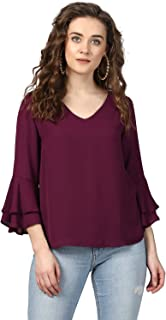 Harpa Women Plain Regular fit Top