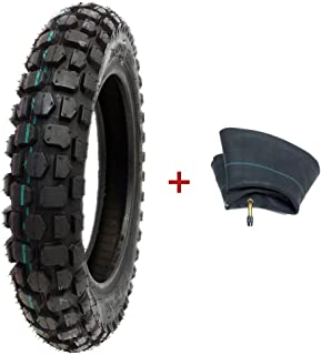 MMG Combo Tire and Inner Tube Size 3.00-12 Front or Rear Knobby Tread, Motorcycle Trail Off Road Dirt Bike Motocross Pit