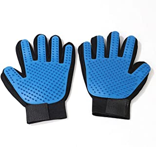 Pet Grooming Gloves, Hair Remover Mitt with Enhanced Five Finger Design for Pet Cats, Dogs, Kittens, Rabbits, Guinea Pigs,...