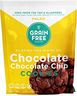 Paleo Chocolate Chocolate Chip Cookie Backing Mix by THE GRAIN FREE BAKER - Vegan & Gluten Free - Low Carb & Refined Sugar...