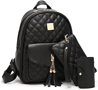 Women Simple Design Fashion Quilted Casual Backpack Leather Backpack for Girls