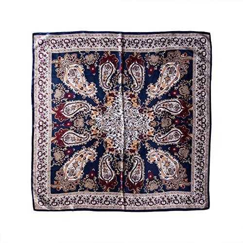 Bufanda de Satén para Mujer Pañuelos Suave Estampado Floral Bufanda Elegante Protección Solar 90 x 90 cm Pañuelos Cuadrados Mujer, Día de Madre, etc