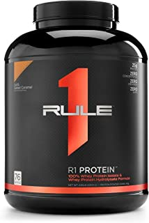 Sponsored Ad - R1 Protein Whey Isolate/Hydrolysate, Rule 1 Proteins (76 Servings, Lightly Salted Caramel)