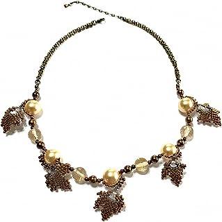 【ビーズキット】 アクセサリーキット ネックレスキット 楓のネックレス