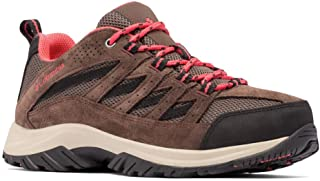 Columbia Women's Crestwood Trail Running Shoe, Mud/Red Coral, Numeric_10 Wide