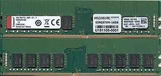 キングストン KSM24ED8/16ME 16GB DDR4 2400MHz ECC CL17 2Rx8 1.2V Unbuffered DIMM チップ固定 Micron E