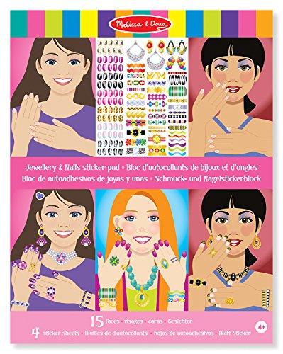 Melissa & Doug 14223 - Bloc de autoadhesivos de Joyas y uñas