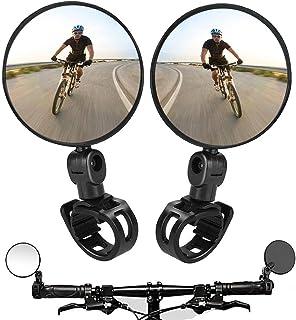 2PCS Bike Mirrors,Adjustable Rotatable Handlebar Mounted...