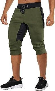 Sponsored Ad - TACVASEN Men's Shorts 3/4 Jogger Capri Long Shorts Running Cotton Below Knee Pants with Pockets