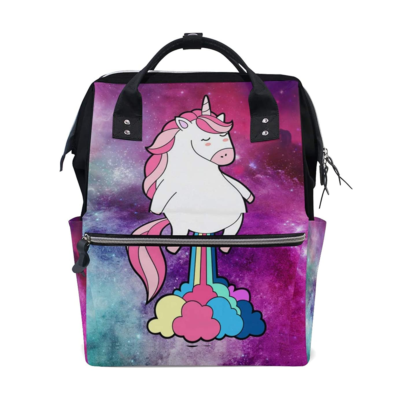 Backpack Funny Unicorn Galaxy Rainbow Fart School Rucksack Diaper Bags Travel Shoulder Large Capacity Bookbag for Women Men