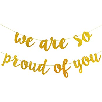 JeVenis We are So Proud of You Banner Graduation Banner Congratulations Banner Graduation Party Decorations Graduation Commencement Decoration