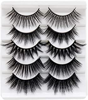 5 Pairs 3D Faux Mink Lashes Different Style Fake Lashes Natural Soft False Eyelashes for Makeup Eyelashes Extension