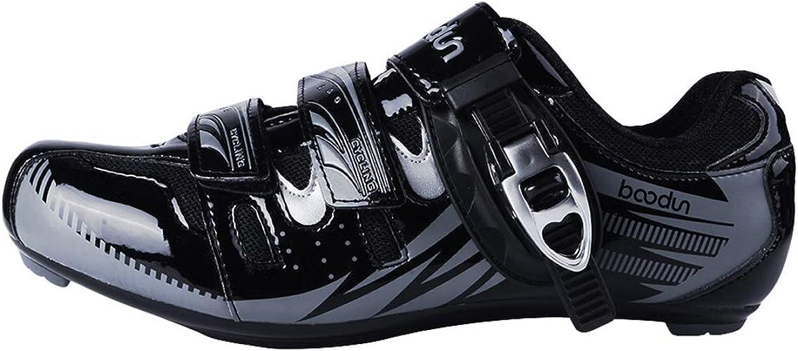 AEMUT Chaussures de vélo pour Hommes Chaussures de Cyclisme sur Route Cyclisme léger et Solide Chaussures paniers Ultra-légères autobloquantes