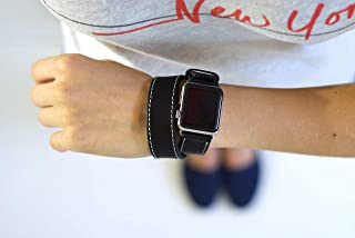 Double Tour Apple Watch Band, Leather Apple Watch Strap, Horween Leather Apple Watch Strap, IWatch Band