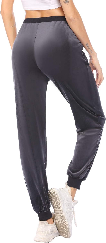 Ekouaer Sweatpants Women's Athletic Basic Fleece Sale Jogger Limited time sale Velvet L