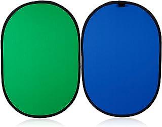 Konseen クロマキー背景 100cmx150cm ブルー/グリーン 一枚両色 折り畳み式 背景パネル