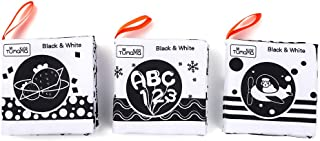 tumama Baby Cloth Book Soft Books White & Black Learning Shape Traffic Animal Numbers Alphabet Fruit Bedtime Reading Early...