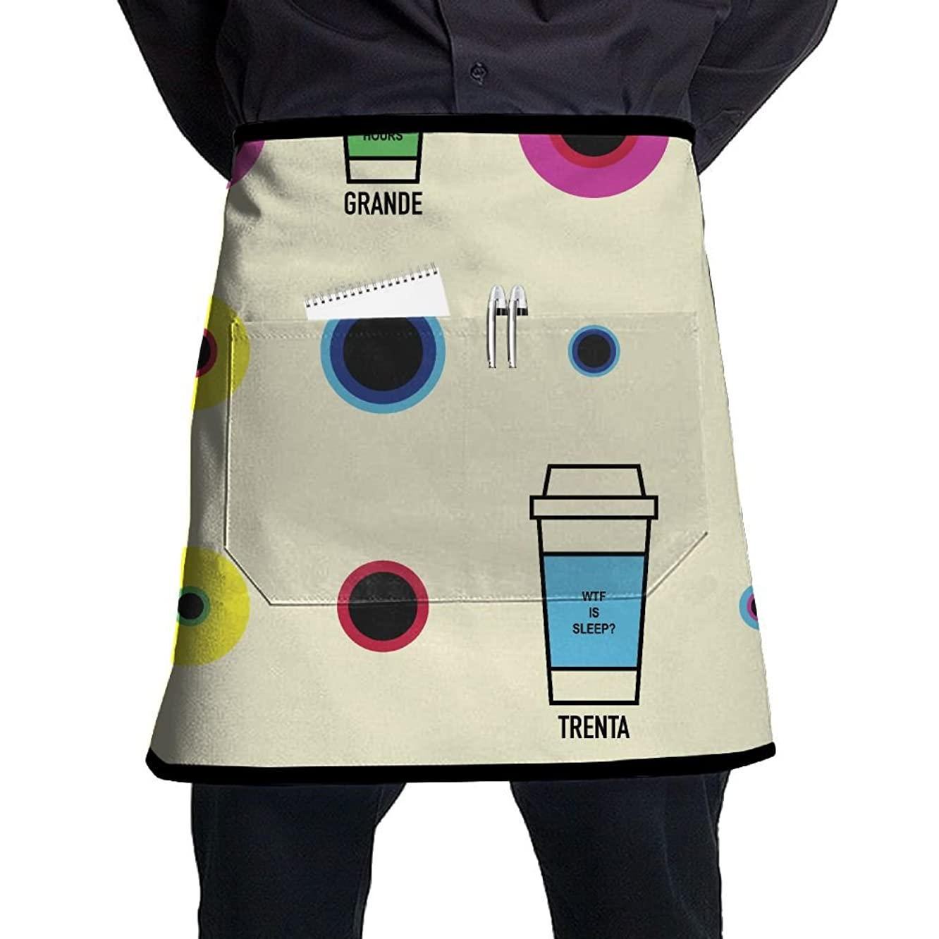 Tall Grande Venti Trenta Slept Wtf Adjustable Apron With Pocket For Grilling Bacon Chef Waitress Great Gift For Wife Ladies Men Boyfriend