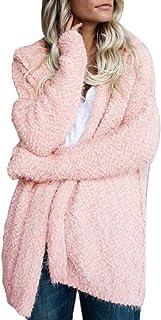 LOPELY Womens Ladies Teddy Fleece Tops Full Sleeve Fleece Jacket Blanket Hoodie Solid Color Soft Teddy Hoody Hooded Windbr...