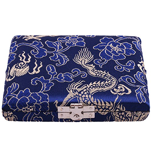 Oboe Reed Case Blue Wooden Silk Oboe Reed Case Holder Box Protector...