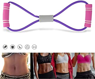 VGEBY1 Pulling Exercise Rope, 8 Shaped Fitness Pulling Rope Yoga Elastic Rubber Tension Band for Keep Fit