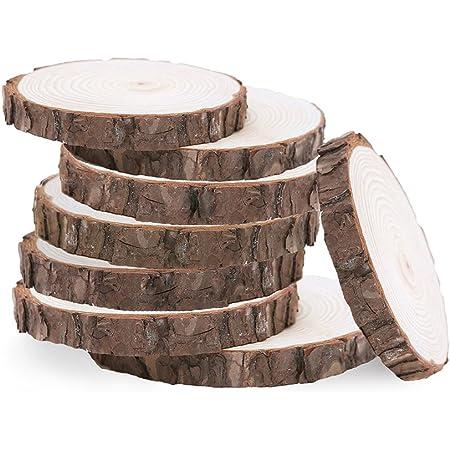 Hitopin 30 Piezas 7 Rodajas de Madera Troncos Madera Decoracion Boda para Bricolaje Decoraci/ón Navide/ña Discos de Madera 8 cm Discos de Madera Natural 7 /– 8 cm