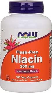 Now Supplements, Flush-Free Niacin 250 mg, 180 Veg Capsules