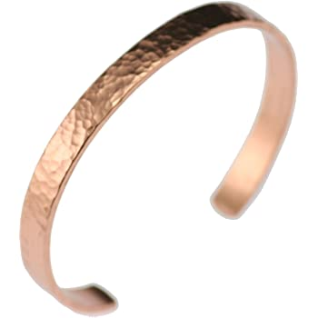 Hammered Copper Cuff Bracelet Durable Copper - Lightweight - 100% Uncoated Solid Copper