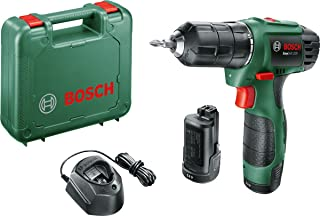 Bosch 06039A2173 EasyDrill 1200 Cordless Drill/Driver with Two 12 V Lithium-Ion Battery, Green